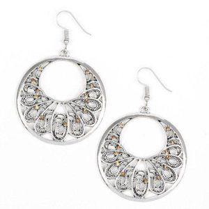 Fancy That Brown Silver Earrings Jewelery